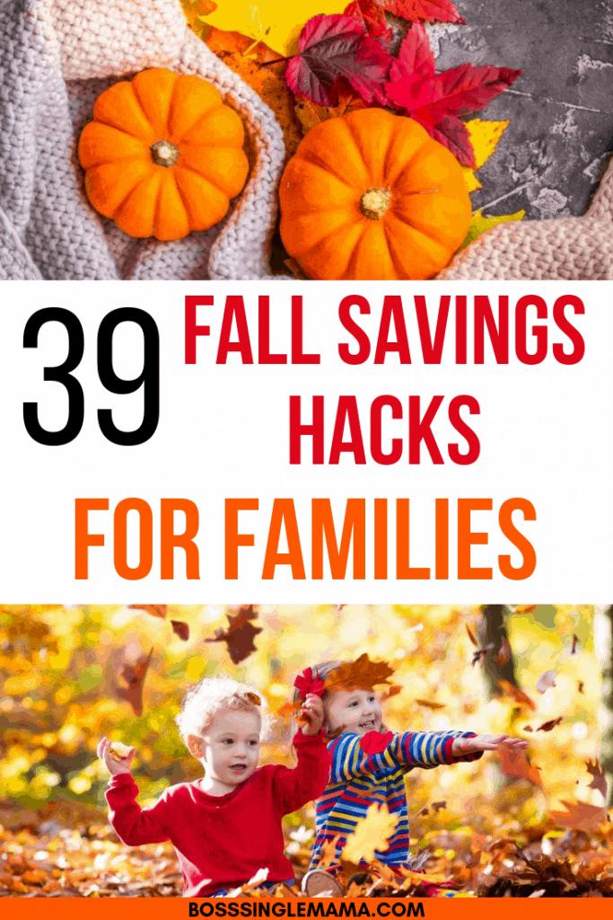 fall savings hacks for families