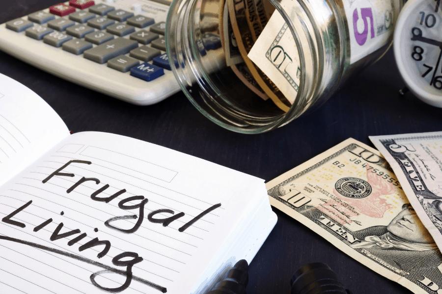 money jar frugal living