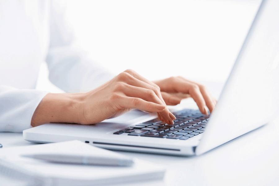 online transcriptionist working