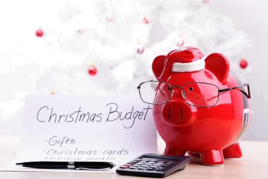 christmas budget piggy bank