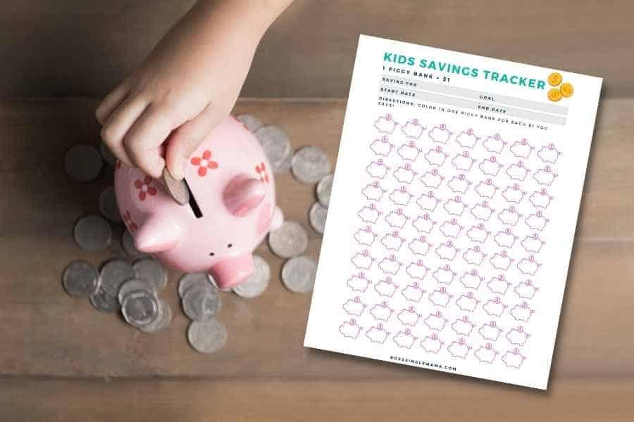 kids saving goal tracker