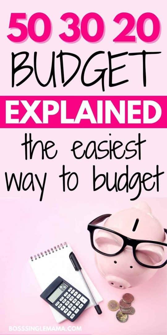 50-30-20 budget rule