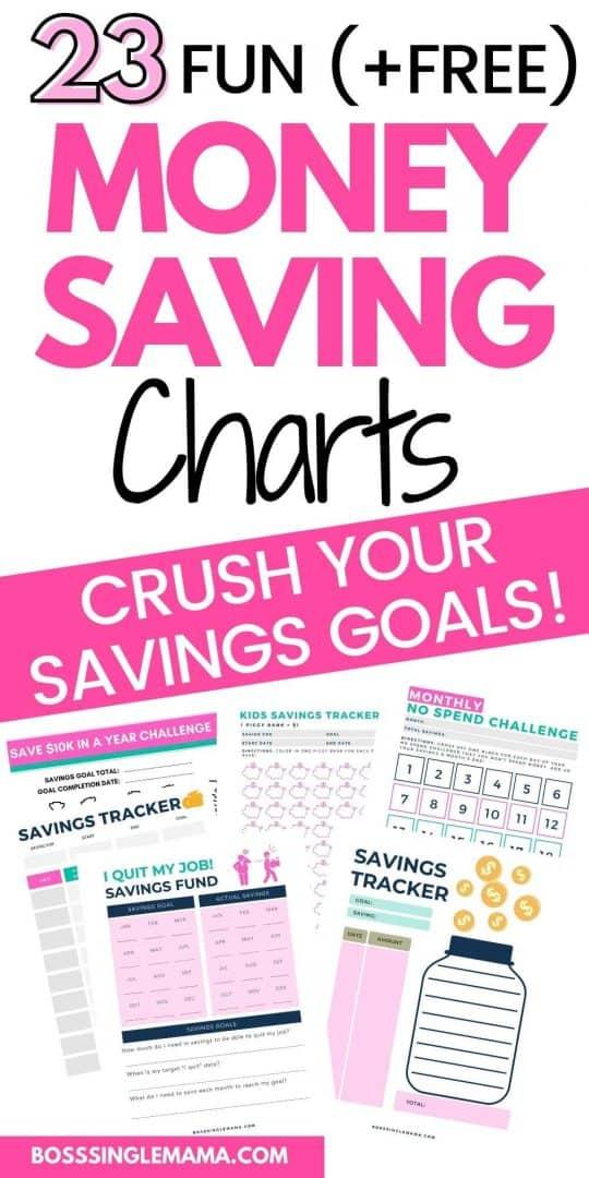 free money saving charts