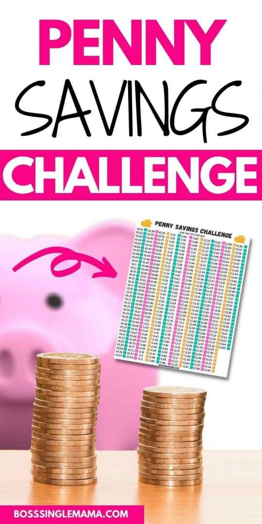 penny challenge savings
